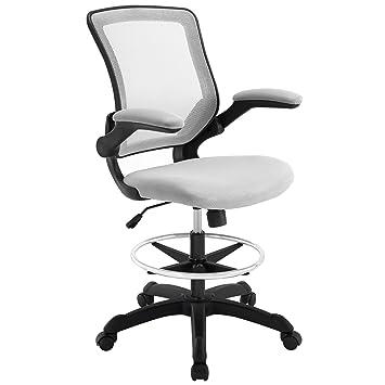 Beautiful Modway Veer Drafting Stool Chair (26L X 26W X 49.5H), Gray