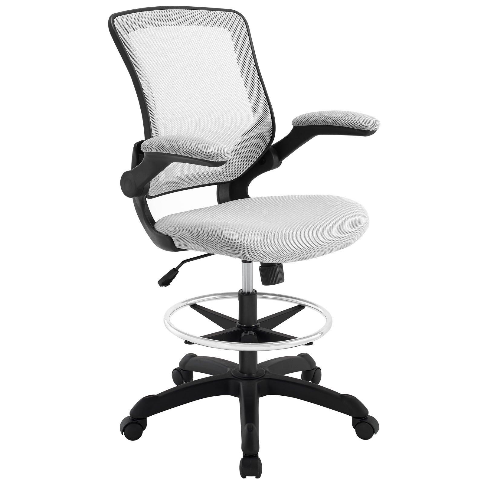 Modway Veer Drafting Stool-Chair (26L x 26W x 49.5H), Gray