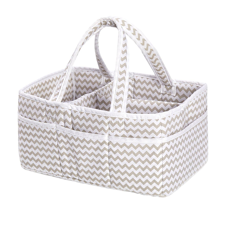 incarpo Baby Storage Basket Foldable Diaper Caddy Organiser Portable Large Nursery Bag
