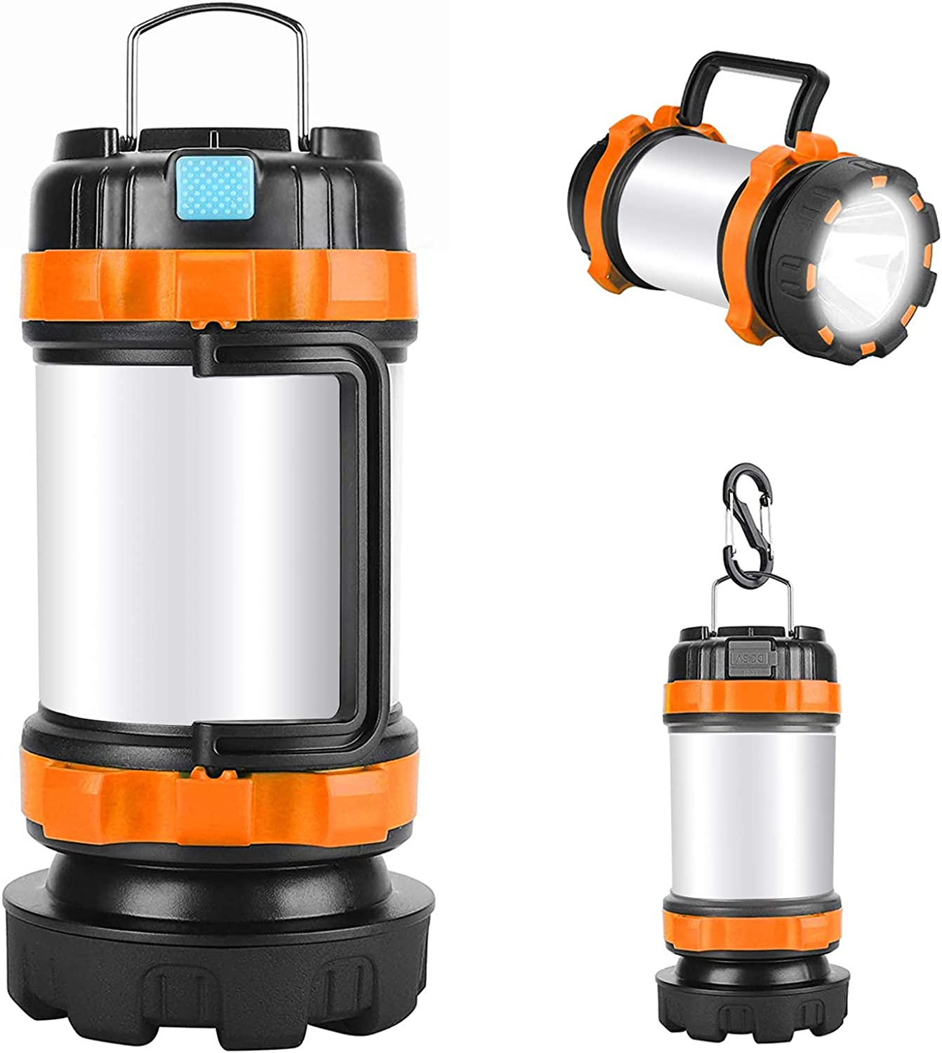 Led Lantern Camping 2 Pack USB Charging Cable Included Outdoor Recreations Alpswolf Camping Flashlight 4000mAh Power Bank,6 Modes IPX4 Waterproof Hiking Camping Lantern Rechargeable