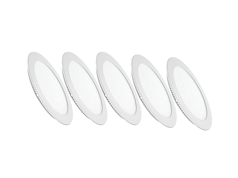 4000/K lumi/ère naturelle avec ailettes /à ressort 5x/Downlights LED ronds encastrables Pegaso
