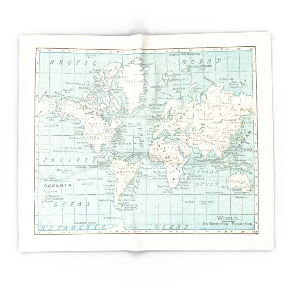 Blankets throws society6 world map in blue and cream 51 x 60 blanket publicscrutiny Choice Image