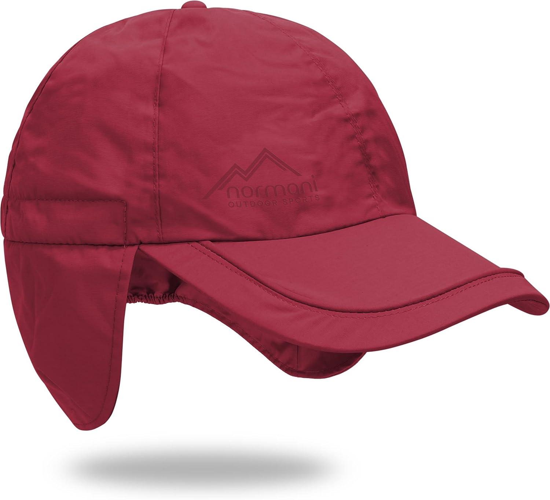 normani Regenm/ütze Cap verstellbar mit Ohrenschutz 100/% Wasserdicht S-3XL