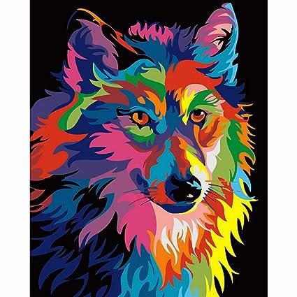hidrru pintada a mano arte Digital pintura perro diydiy sin marco de ...