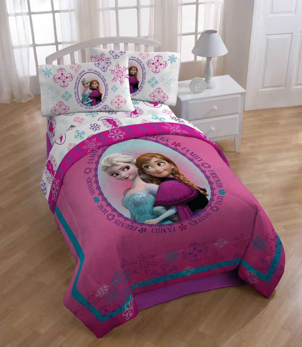 Amazon.com: Disney Frozen Anna and Elsa Snowflake Twin/Full Reversible  Comforter: Home & Kitchen - Amazon.com: Disney Frozen Anna And Elsa Snowflake Twin/Full