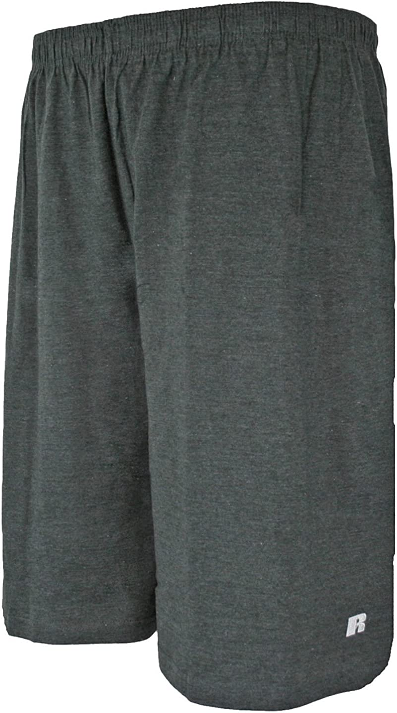 Russell Athletic Mens Big /& Tall Cotton Jersey Pull-On Short