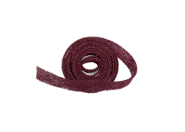 Sinamay Bias Binding Tape for Millinery 1 cm Wide White 1 Meter