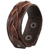 Amazon Price History for:Jenia Unisex Braided Leather Bracelet Genuine Leather Star Wristband Wrap Bracelet Brown
