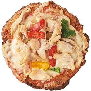 自家製サラダチキンと野菜の カリフラワーピザ 5枚セット / ヘルシー チキン 手のひらサイズ 冷凍食品 ギルトフリー おつまみ おやつ ダイエット食品 カリフラピザ