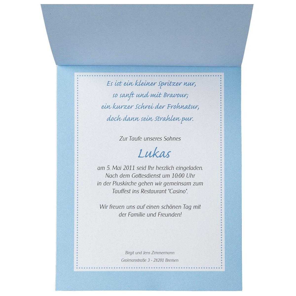 15 tarjetas de invitación para bautismo - Set de tarjetas Bautizo Boaty - Todo Incluye: invitaciones, danksagungen, tarjetas de mesa - para facilitar ...