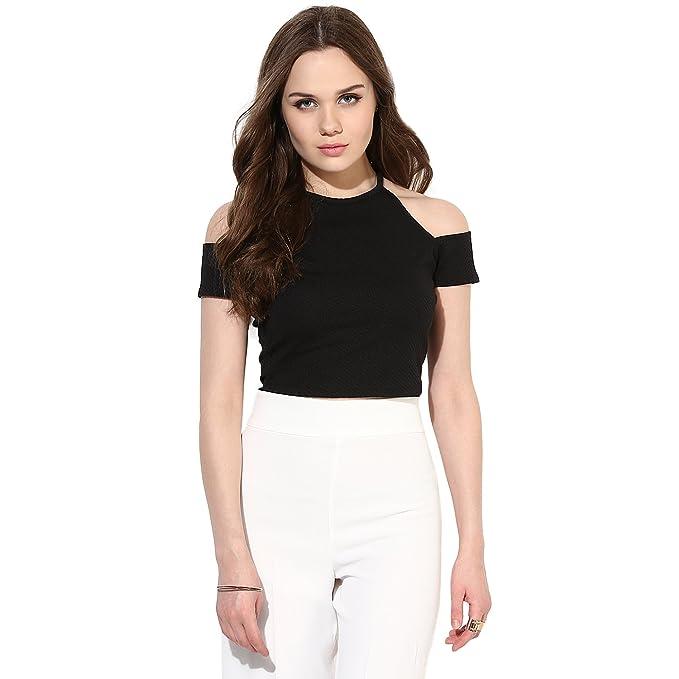 11bdb8b907711c VeniVidiVici Women s Plain Slim Fit Shirt (VVV16506 Black X-Small)