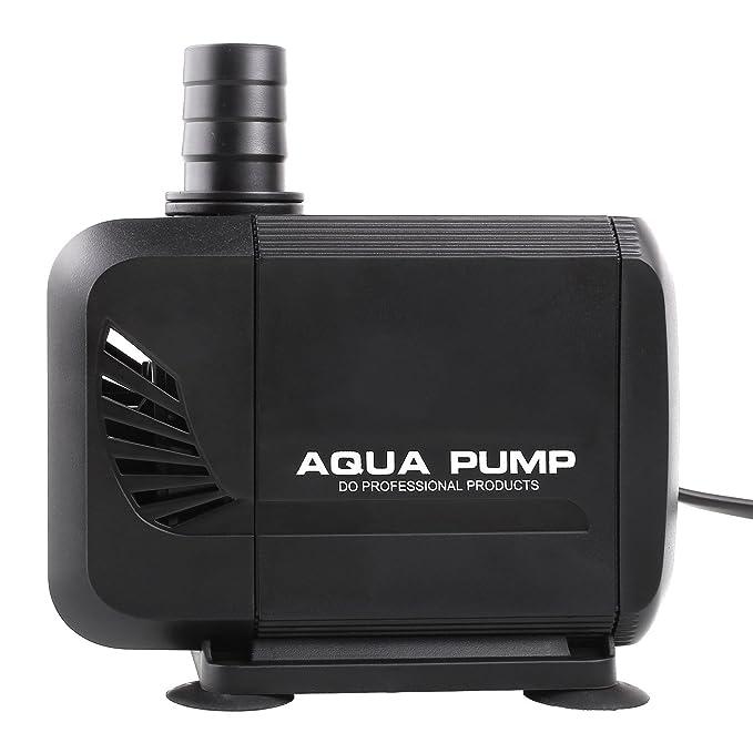 MVPOWER Bomba de Agua Sumergible Bomba para Estanque Fuente Acuario Potencia de 40W Velocidad de Flujo de 3000L/H Cabezal Hidráulico de 2.8M Boquillas de ...