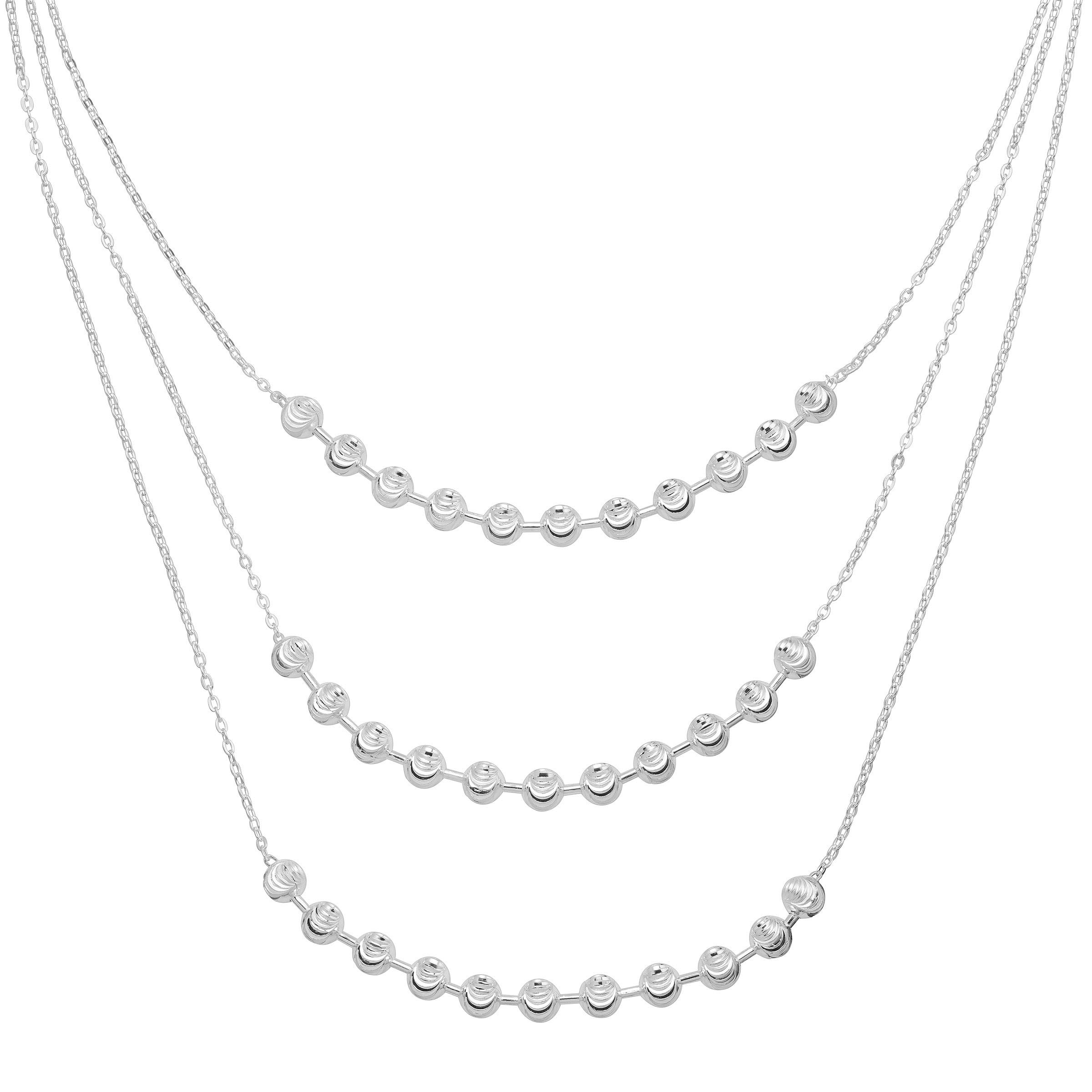 Silpada 'Sabina Sage' Beaded Three-Layer Necklace in Sterling Silver