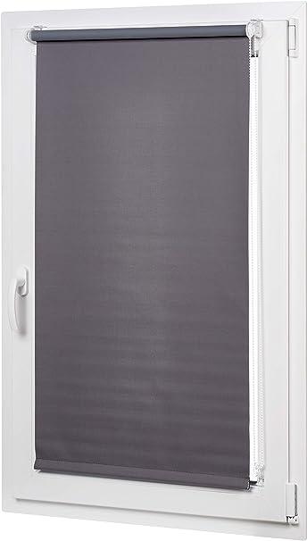Verdunkelungsrollo mit farbiger Beschichtung Dunkelgrau 66 x 150 cm Basics