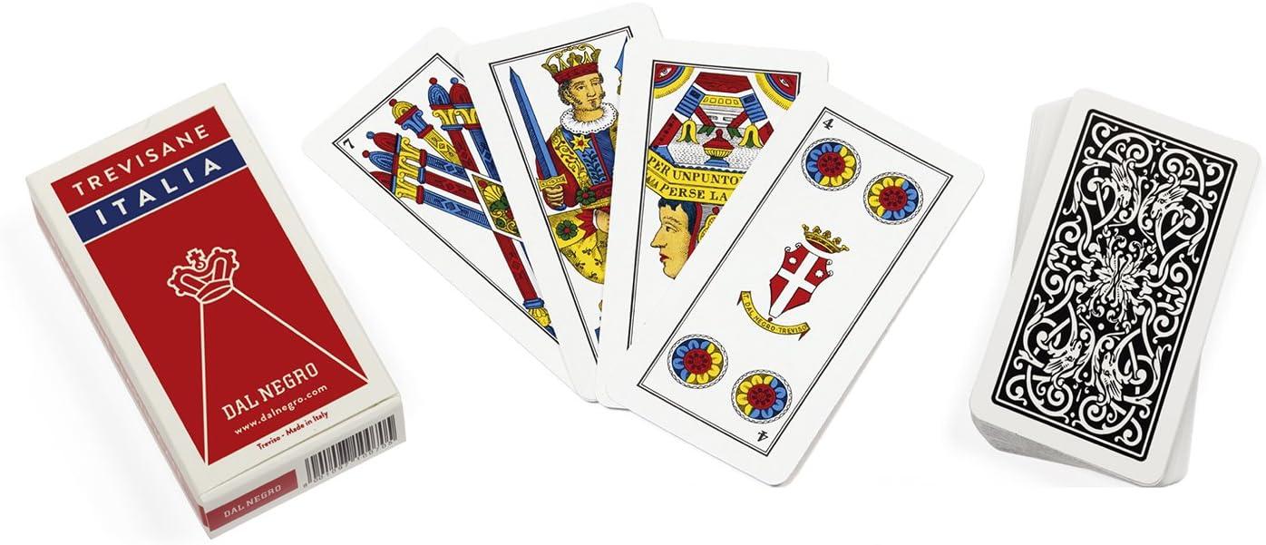 Dal Negro 10073 Trevisane Italia - Juego de Cartas regionales, Estuche Rojo: Amazon.es: Juguetes y juegos