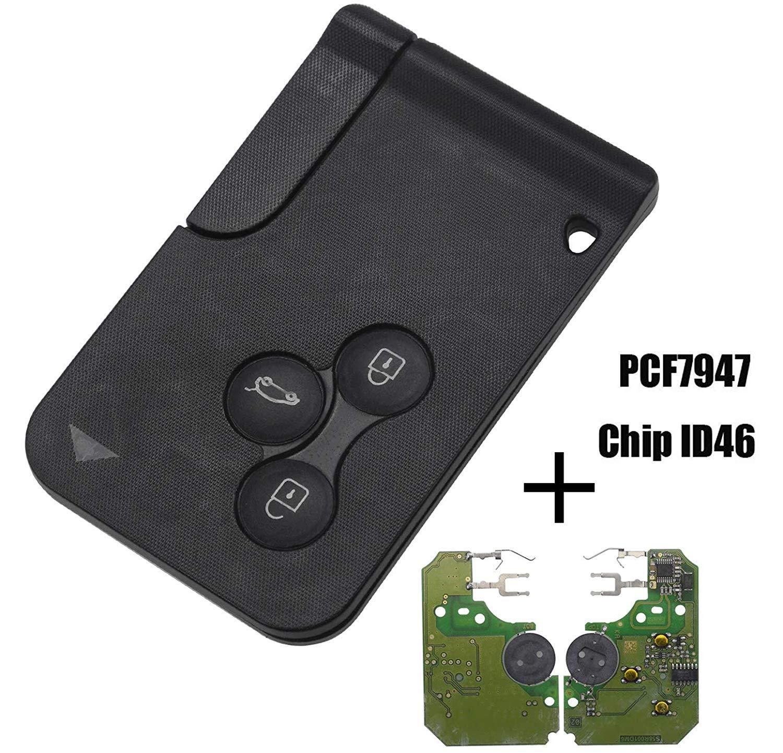 Smartcard Tarjeta Completa con electr/ónica para programar Renault Sc/énic M/égane Koleos Clio Laguna 433 MHz ID46 PCF7947 ProPlip