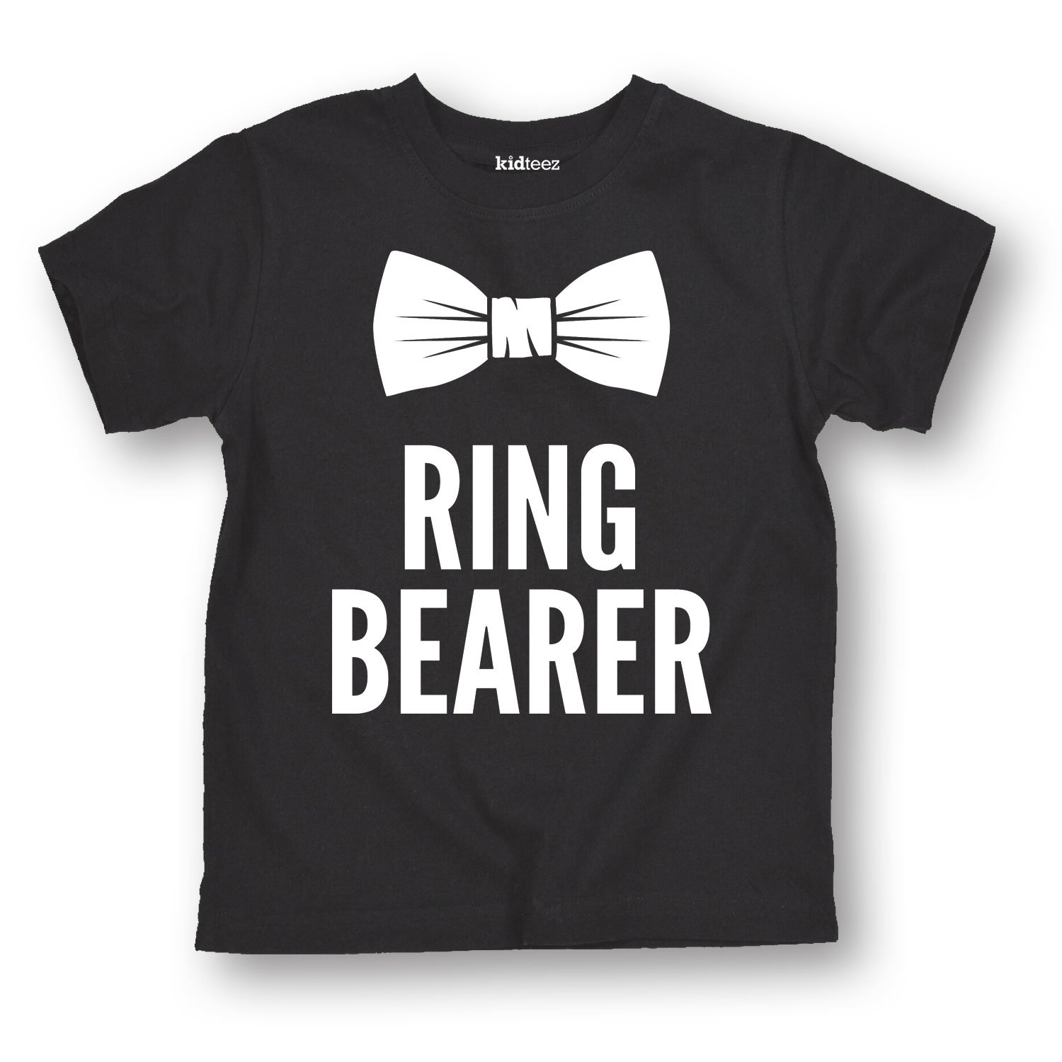 Instant Message Ring Bearer Bowtie Tuxedo Hipster Wedding Bridal Party Fashion Toddler T-Shirt Air Waves
