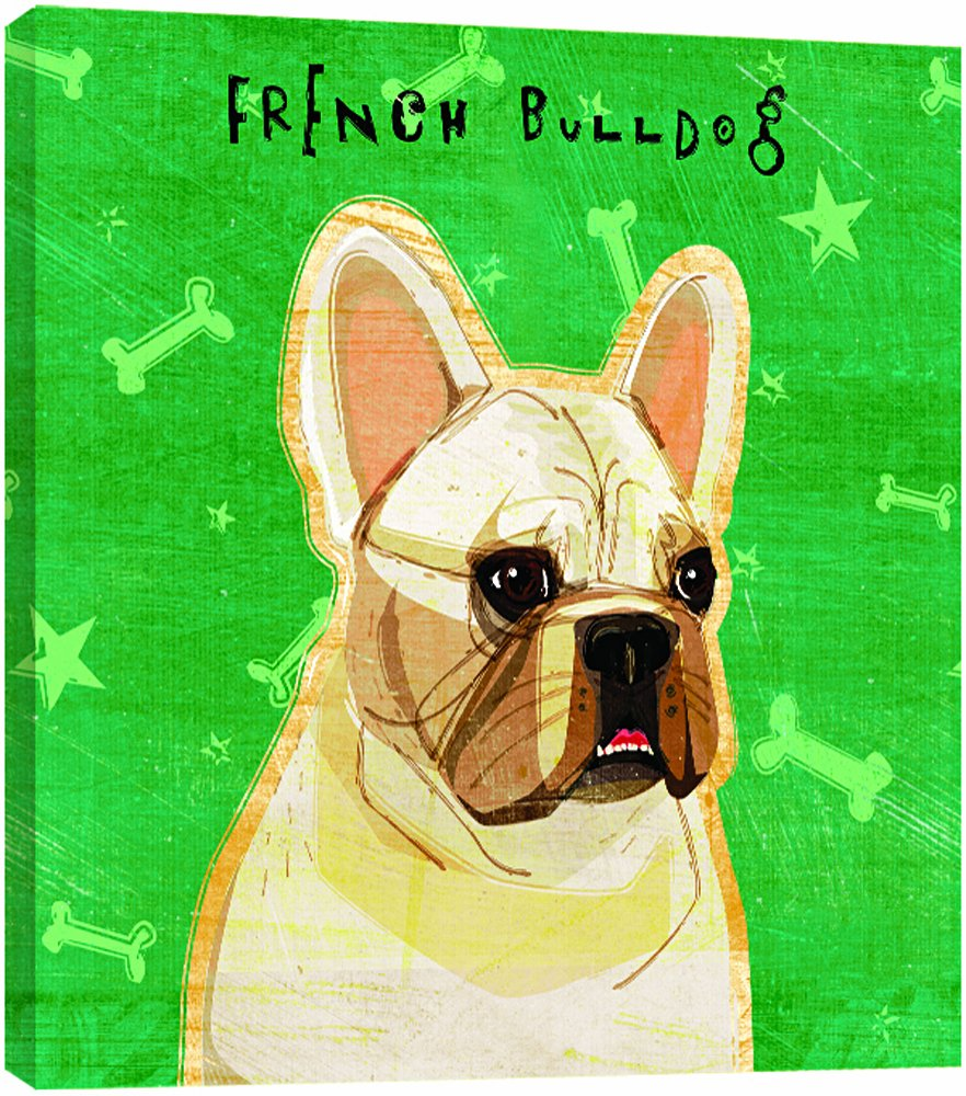 White French Bulldog 11.25 by 11.25 by 0.5-Inch Tree-Free Greetings 84065 Eco Art Wall Plaque