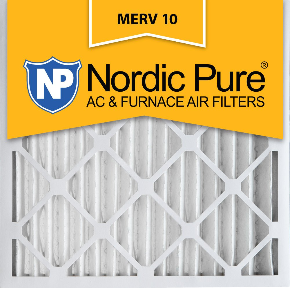 Nordic Pure 20x20x2 MERV 10 Pleated AC Furnace Air Filter, Box of 3 20x20x2M10-3