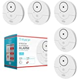 Tritace Window Alarm with Vibration Sensor - Feel Safe at Home.- Keep Burglars & Thief's Away - Detects Breaking of Glass & Opening of The Window with Force - (Set of 5), White