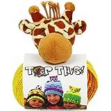 dmc knitting top this hat kit girraffe