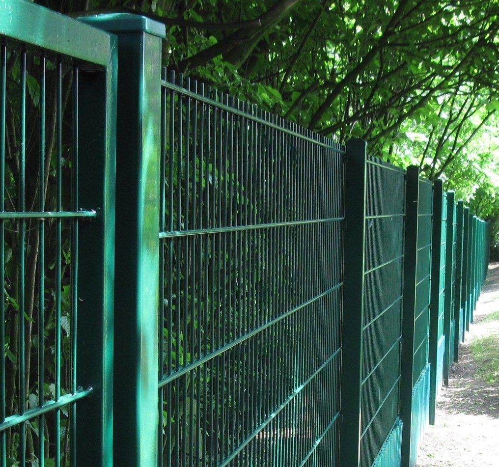 25 Meter Zaun Doppelstabmatten Gittermattenzaun Komplettset