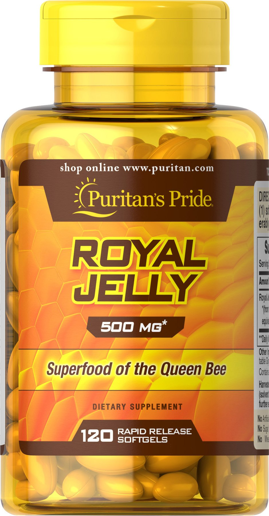 Puritans Pride Bee Propolis 500 Mg 200 Capsules Health Puritan Triple Strength Glucosamine Chondroitin Msm 90 Caplets Royal Jelly 120 Softgels