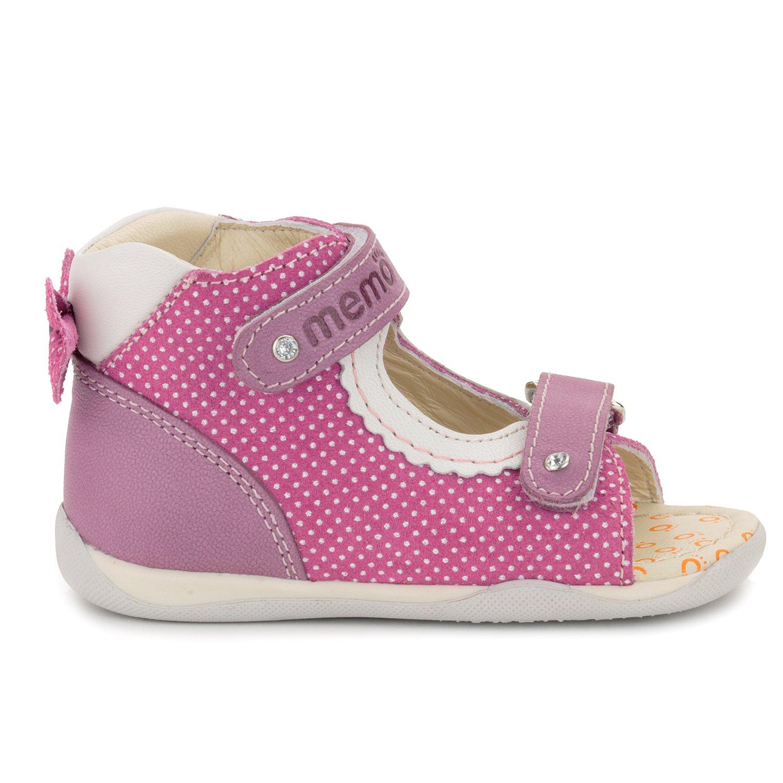 Memo Mini 1JE Baby Girl' First Walker Orthopedic Leather Anti-Slip Sandal, 19 (4 Toddler) by Memo (Image #7)
