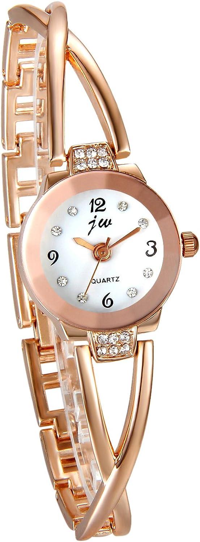 Reloj de Pulsera Cuarzo Elegante Ultra Delgada para Mujer, Reloj Pedrería Original, Gráfico Analógica, Color Plata, Moderno, Avaner