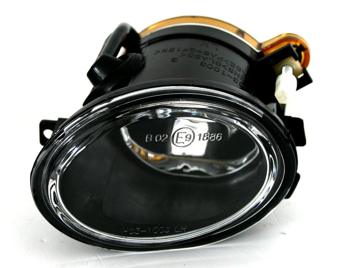 left right clear glass chrome Fog light set for M-Technik bumper