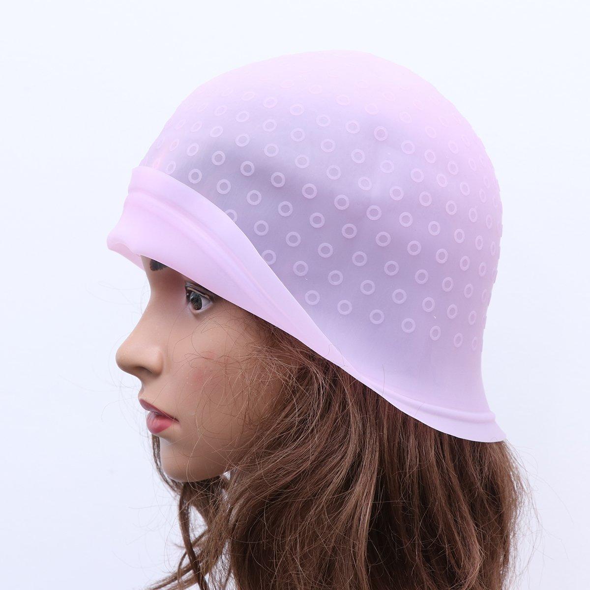 SUPVOX Silikonkappe f/ür Salonf/ärbemittel mit Haken Haarsalon-Farbtonmarkierungsset Zuckerguss Kippen F/ärben von Farbwerkzeugen Pink