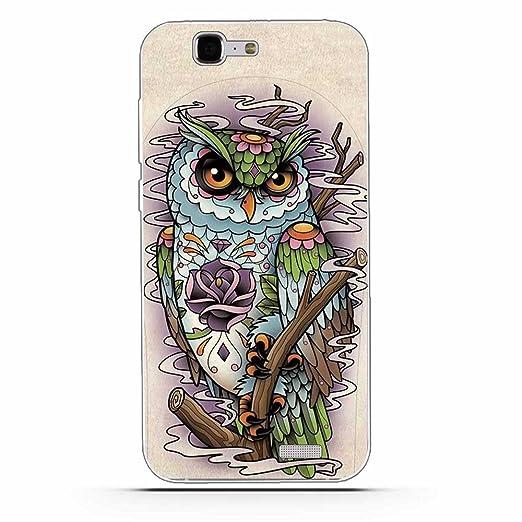 7 opinioni per Huawei Ascend G7 Cover, Fubaoda Alta qualità Gufo Tiger Lion artistico Painting
