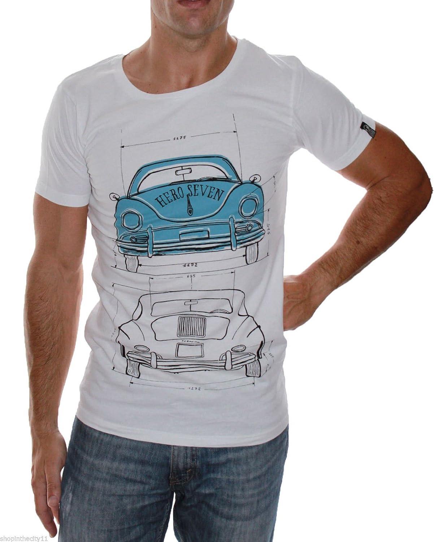 Camiseta Hero Seven Modele Porsche 356 Blanco Medium: Amazon.es ...
