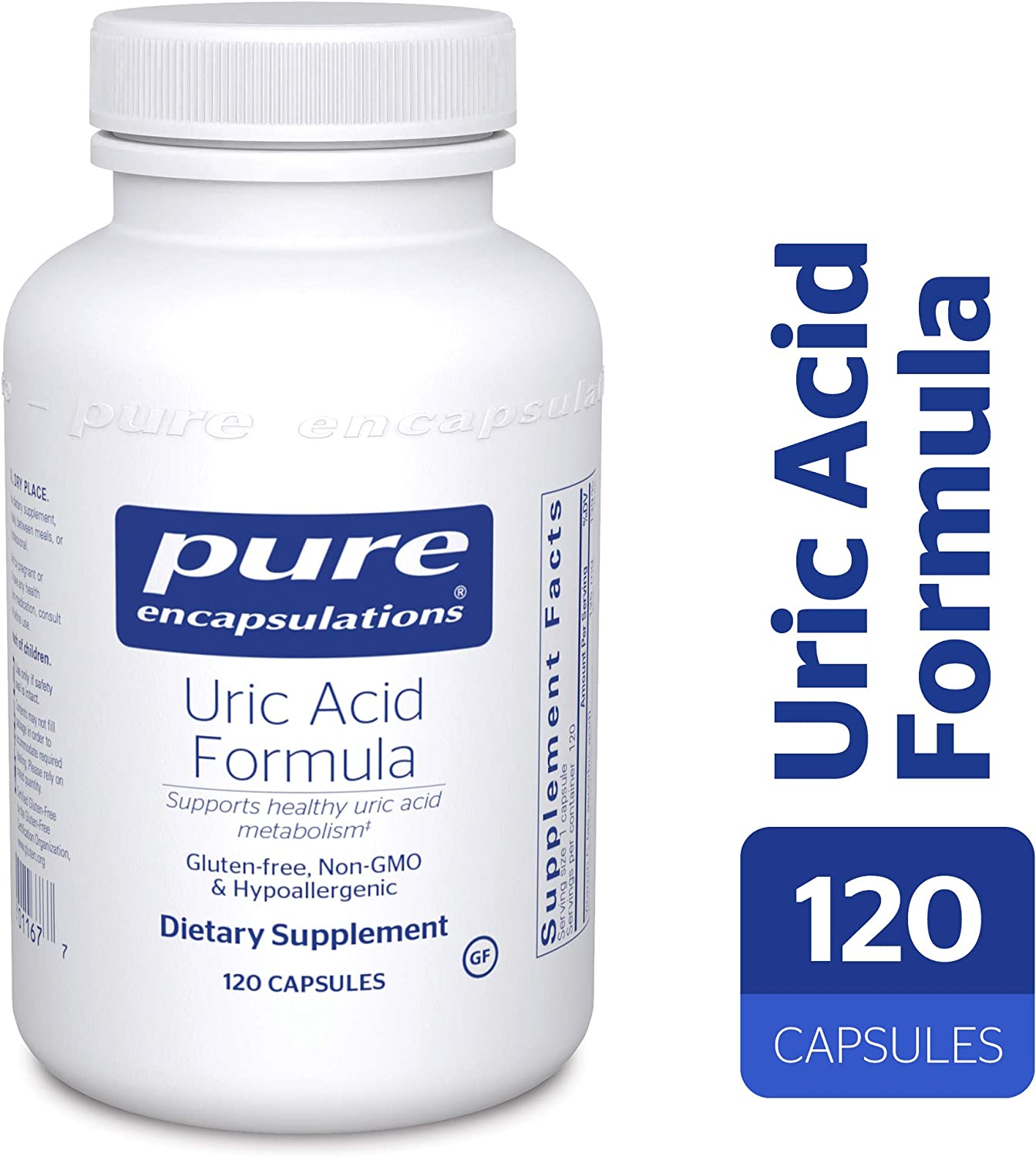 Pure Encapsulations – Uric Acid Formula – Hypoallergenic Supplement with Vitamins and Herbal Extracts to Support Healthy Uric Acid Metabolism* – 120 Capsules