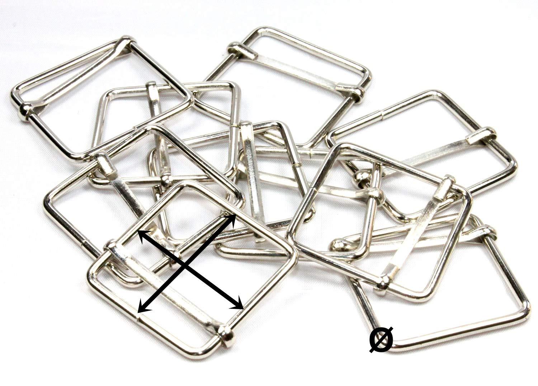 10 Vierkantring 25 mm Stahl Schlaufe Metall für Gurtband 25mm