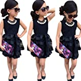 Amazon Price History for:FEITONG Kids Baby Girls Leopard Printing Short Sleeveless Dress