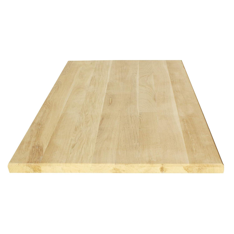 [en.casa] Tischplatte Eichenholz Eichenholz Eichenholz Massivholzplatte Eiche Massiv Holz DIY 110x60cm 2001ea