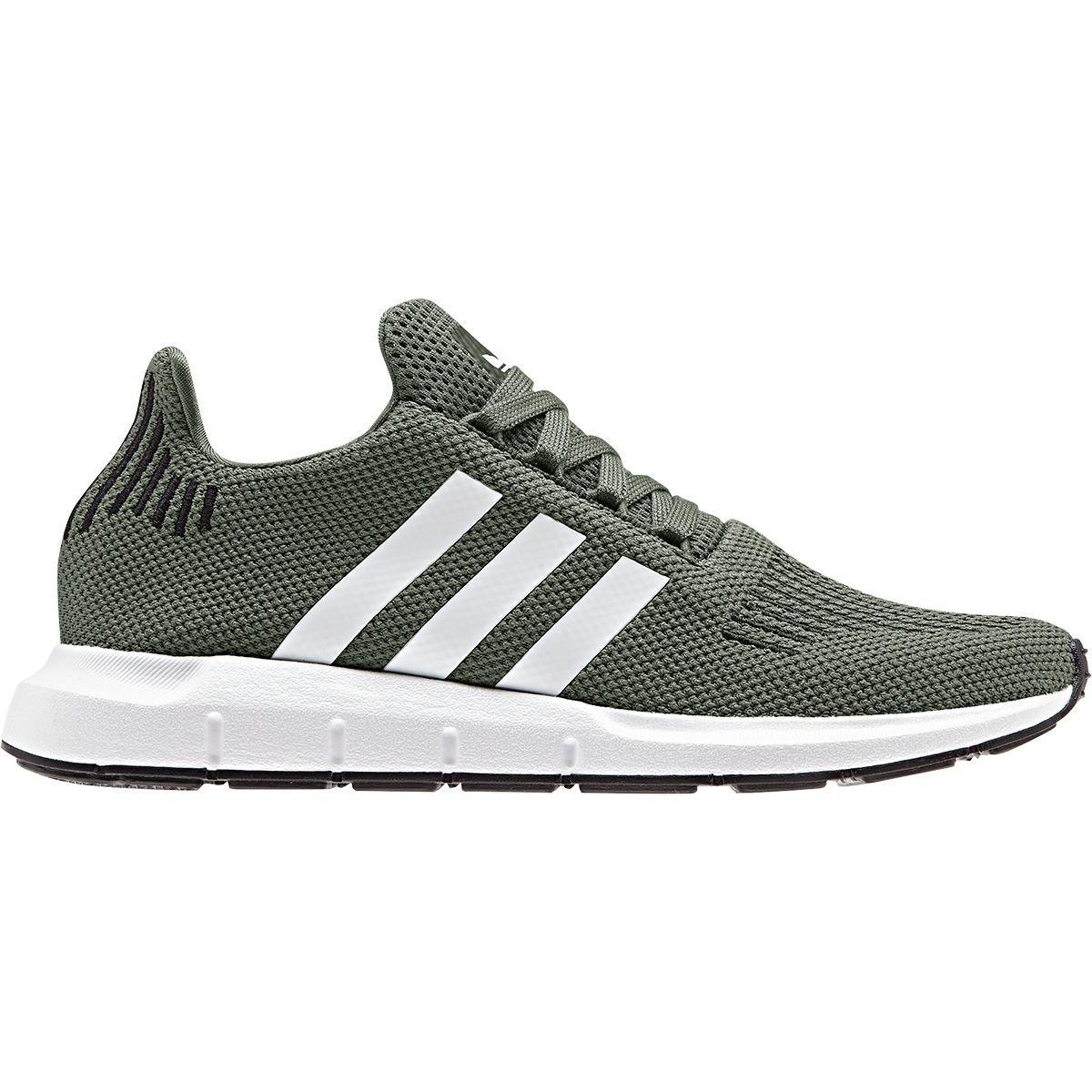 adidas Originals Women's Swift Running Shoe, Base Green/White/Black, 9 M US