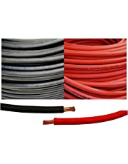 4 Gauge 4 AWG 5 Feet Black + 5 Feet Red Welding Battery Pure Copper Flexible Cable Wire - Car, Inverter, RV, Solar