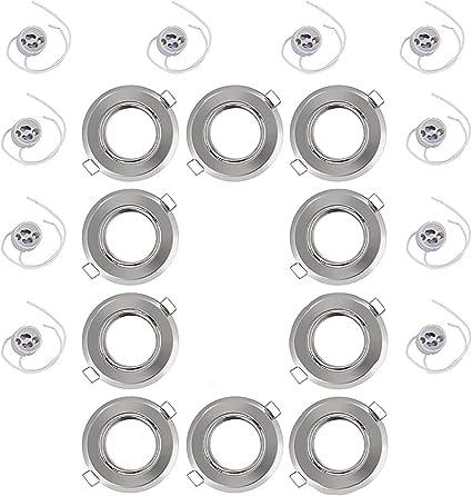 per un/'illuminazione perfetta e regolabile orientabile VARA 10x Cornice per faretto da incasso con attacco GU10