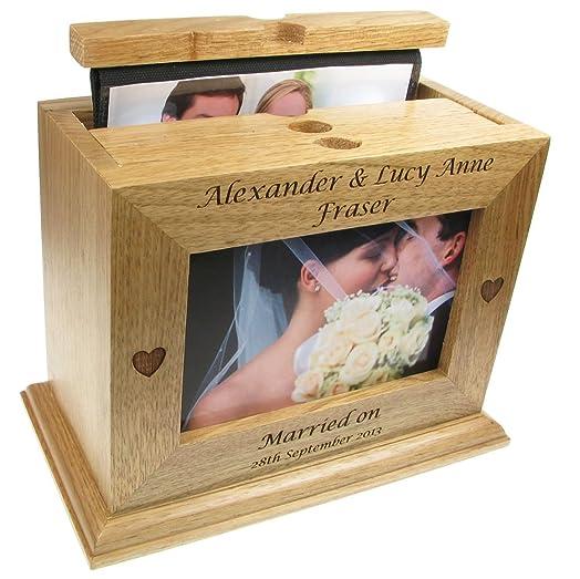 Wedding Gift Engraved Oak Photo Box Album Size Formats Of Up To