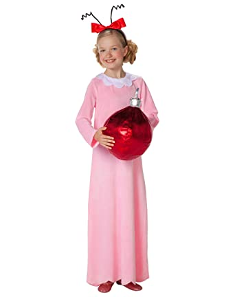 3768b29f39a7 Amazon.com: Spirit Halloween Kids Cindy Lou Who Costume - Dr. Seuss ...