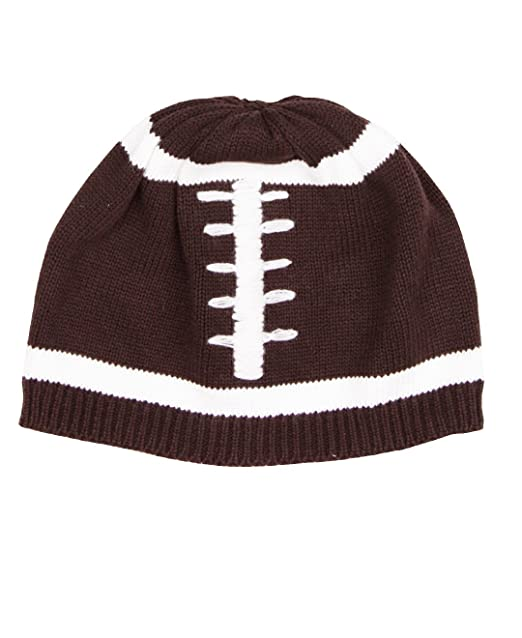2d2658f4d65 Amazon.com  RuggedButts Baby Toddler Boys Football Baby Knit Beanie Hat   Clothing