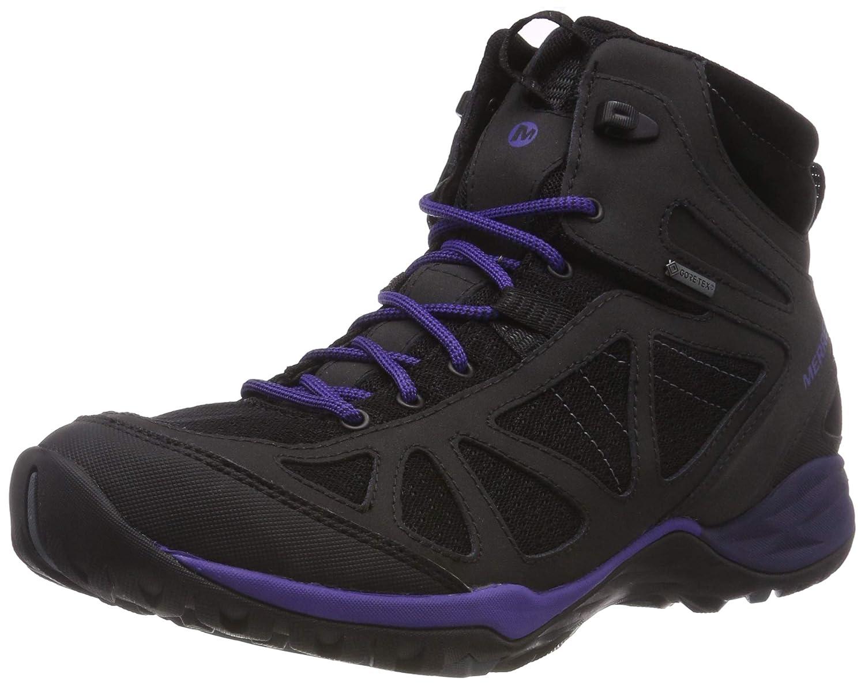 Noir (noir Liberty) 37 EU Merrell Siren Sport Q2 Mid GTX, Chaussures de Randonnée Hautes Femme