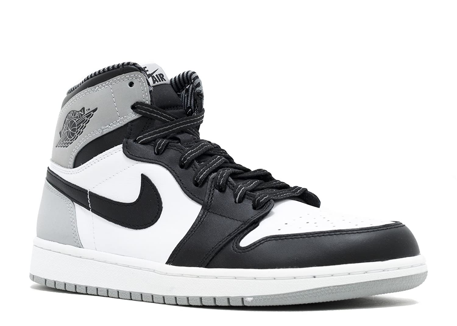 sports shoes 09d38 fb168 Amazon.com   Nike Mens Air Jordan 1 Retro High OG Barons Leather Basketball  Shoes   Basketball