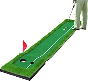 SkyLife Golf Putting Green Mat, Professional Golf Practice Trainning Aid System for Home Office Indoor Outdoor Use