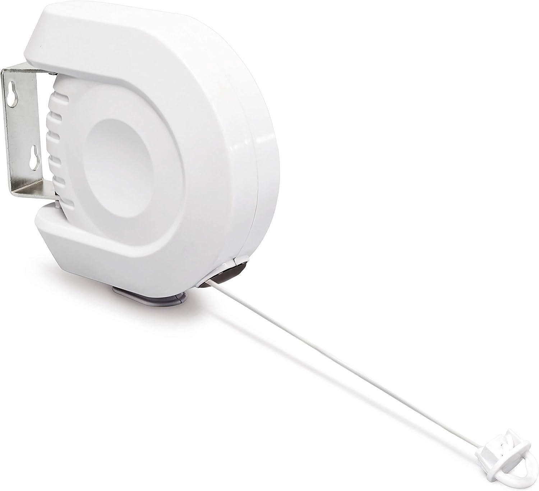 Wäschetrockner Leine Wäscheleine Rollleine ausziehbar 12 m platzsparend weiß