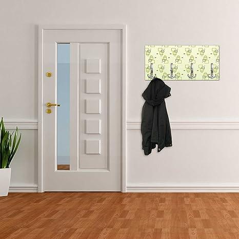 dalinda Perchero con diseño Cuadros Verde Pared Gancho ...