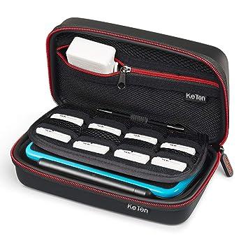 Nintendo New 3DS XL/New 2DS XL - Funda, Keten Protección de Móvil Plástico, Juego de Accesorios de Viaje funda para Nintendo y Accesorios