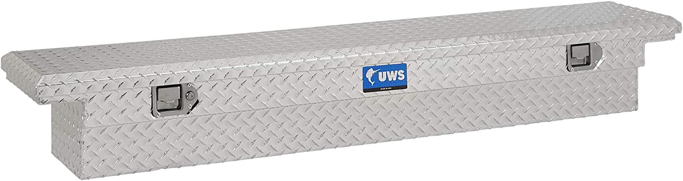 UWS EC10451 69-Inch Aluminum Angled black Truck Tool Box with Low Profile